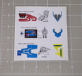 G1 Mail-Away Power Dashers Sticker Sheet