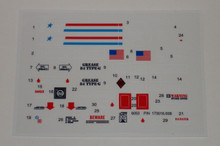 GI Joe A.W.E. Striker Sticker Sheet