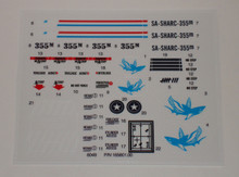 GI Joe SHARC Flying Submarine Sticker Sheet