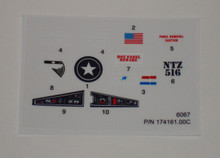 GI Joe L.C.V. Recon Sled Sticker Sheet
