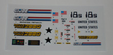 GI Joe Battleforce 2000 Vindicator Sticker Sheet