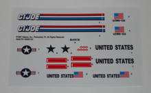GI Joe Skystorm X-WING Chopper Sticker Sheet