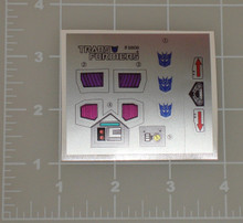 Transformers G1 Spinister sticker sheet