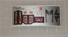 Transformers G1 Sureshot sticker sheet