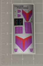 Transformers G1 Cyclonus sticker sheet