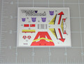 Transformers G1 Blitzwing sticker sheet