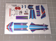 Transformers G1 Octane Complete sticker sheet