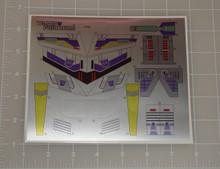 Transformers G1 Sixshot sticker sheet