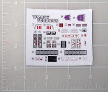 Transformers G1 Barrage sticker sheet
