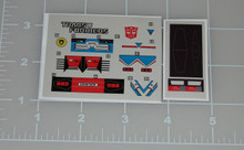 Transformers G1 Sideswipe sticker sheet