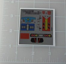 Transformers G1 Ominibot Overdrive sticker sheet