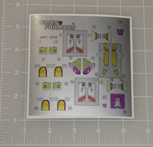 Transformers G1 Pounce and Wingspan sticker sheet