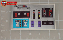 Transformers G1 Punch Counterpunch sticker sheet