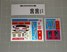 Transformers Masterpiece G1 Smokescreen Custom sticker sheet.