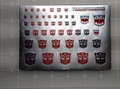 G1 Autobot Symbol Sticker Sheet B1G1