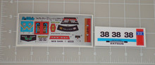 Diaclone No.11 Fairlady Z Racing Type Sticker Sheet