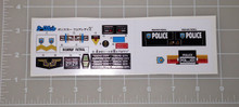 Diaclone No.13 Police Car Fairlady Z Sticker Sheet