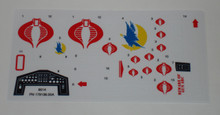 GI Joe Cobra Night Raven Sticker Sheet
