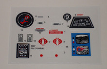 GI Joe Cobra Surveillance Port Battle Station Sticker Sheet