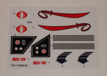 GI Joe Swampfire sticker sheet