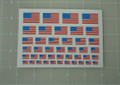 USA Flag World War Custom Sticker Sheet