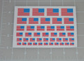 USA reversed Flag World War Custom Sticker Sheet