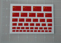 Chinese Flag World War Custom Sticker Sheet