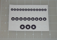 G.I. Joe Allied Star Custom Black White Sticker Sheet