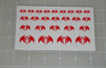 GI Joe Cobra Air Force Red Logo Sticker Sheet