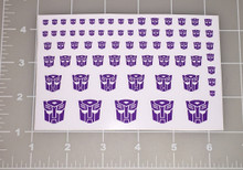 Autobot Shattered Glass Logo Sticker Sheet with White Background.