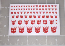 Decepticon Shattered Glass Logo Sticker Sheet with White Background.
