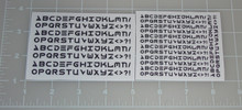 Macross Robotech UN Spacy Alphabet Custom Sticker Sheet with Black Ink.
