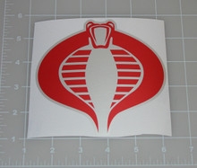 "GI Joe Cobra Command Logo 5x4.5"" Vehicle Decal"