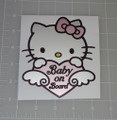 "Hello Kitty ""Baby on Board"" 3x2.5"" Vehicle Decal"