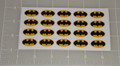 Batman Logo Letter Seal with Transparent Background