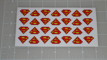 Superman Logo Letter Seal with White Background