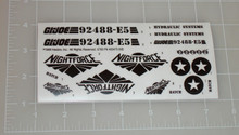 GI Joe Night Striker Sticker Sheet