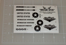 GI Joe Night Storm Sticker Sheet