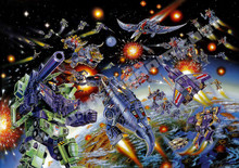 Transformers G1 Decepticons 1985 Box Art Poster Canvas