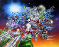 Transformers G1 Decepticons 1987 Box Art Poster Canvas