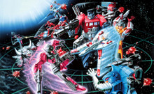 Transformers G1 Decepticons 1988 Box Art Poster Canvas