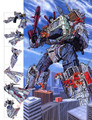 Transformers G1 Metroplex Poster Canvas