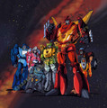 Transformers G1 Rodimus Prime Arcee Poster Canvas