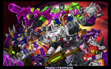 Transformers G1 Decepticons Poster Canvas