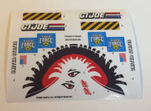 GI Joe Tiger Fly Sticker Sheet