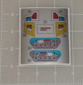 Transformers G1 Cog Grommet and Gasket Sticker Sheet.