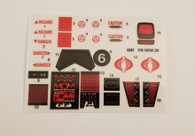 GI Joe Cobra Battle Armor SNAKE Decal Sheet