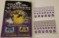 G1 Reissue Cassettes with two free decepticon sticker sheets.