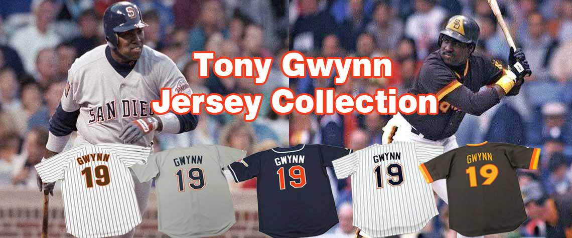 Tony Gwynn Throwback Baseball Jerseys