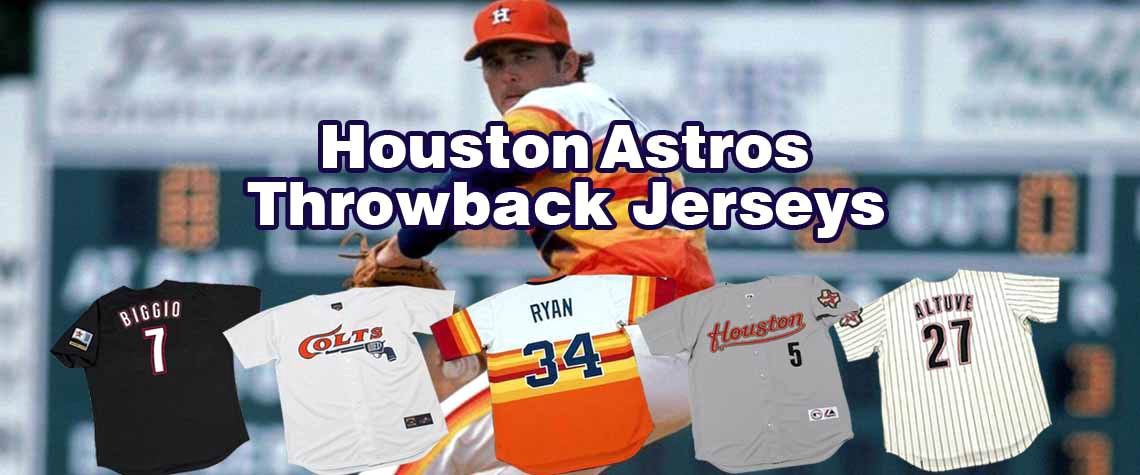 Houston Astros Throwback Baseball Jerseys